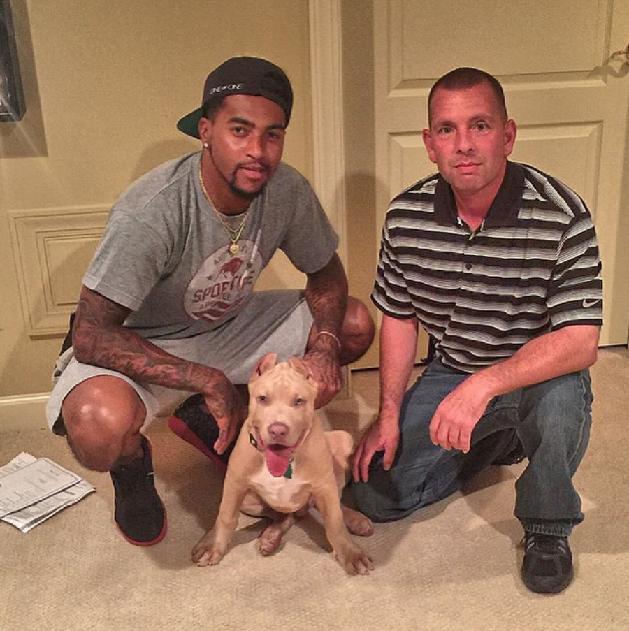 Desean Jackson #11 of the Washington Redskins is the new owner of this beautiful pup..